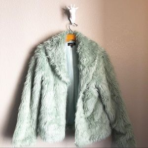 Rue21 Light Teal Faux Fur Jacket M/L